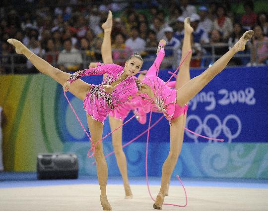 روسيا تحرز ذهبية الجمباز الايقاعى للفرق باولمبياد بكين