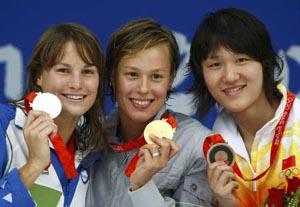 女200米自由泳意大利选手破纪录夺金庞佳颖铜牌
