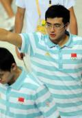 图文-中国游泳队备战08奥运 吴鹏满脸自信