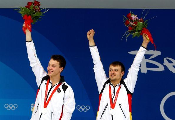 图文-男子双人10米台跳水 德国选手拿到银牌