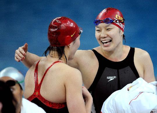 图文-女子4x100米混合泳接力预赛 中国队进入决赛