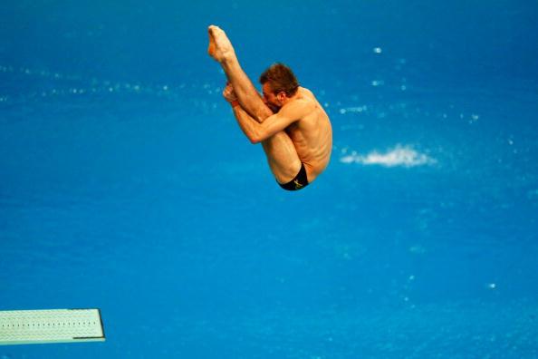 图文-奥运跳水男子3米跳板预赛 动作十分潇洒
