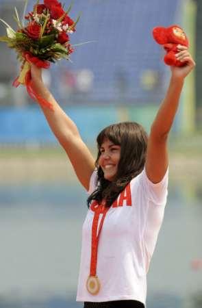 图文-女子10公里公开水域决赛 带上了奥运金牌