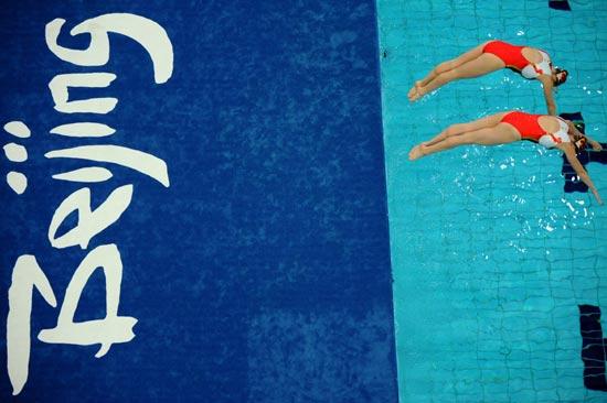 图文-奥运花样游泳经典瞬间 以色列组合翩然入水