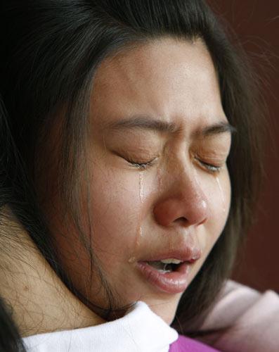 图文-刘翔退出观众泪流满面 粉丝痛哭流涕