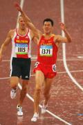 图文-田径男子十项全能赛况 中国齐海峰开心庆祝