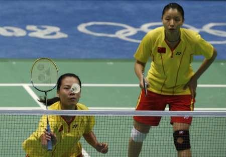 图文-羽毛球女双杨维/张洁雯晋级 中国组合很默契