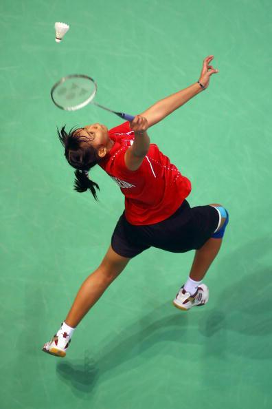 图文-羽球女单铜牌战卢兰告负 印尼姑娘后场救球