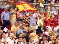 图文-中国女篮67-64西班牙 西班牙球迷现场助威