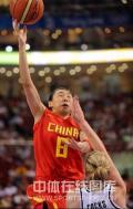 图文-[奥运会]中国女篮80-63新西兰 苗立杰上篮