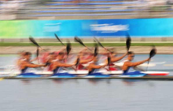 图文-奥运会皮划艇静水比赛拉开帷幕 如梦似幻