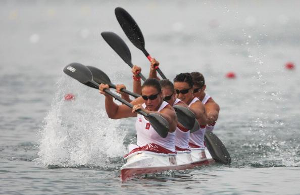 图文-奥运会皮划艇静水比赛拉开帷幕 一往无前