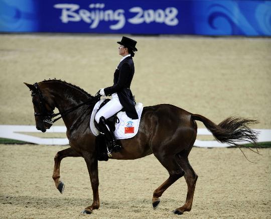 图文-中国奥运马术选手刘丽娜 中国盛装舞步第一人