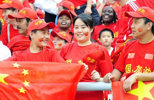 图文-中国国奥1-1新西兰 沈阳热情的球迷