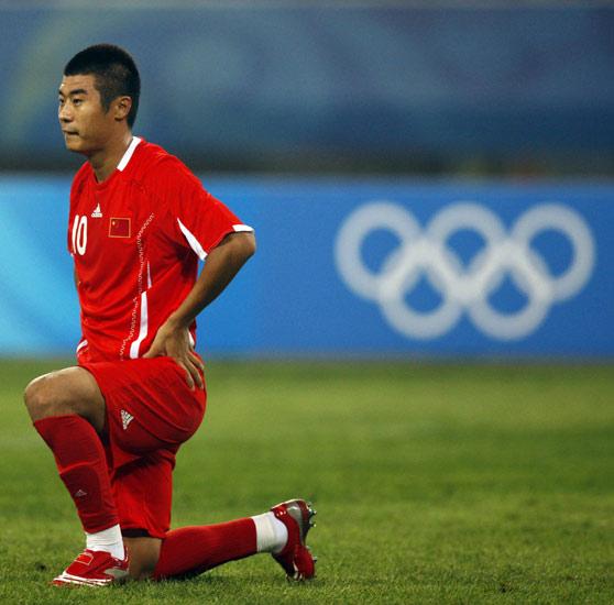 图文-中国国奥1-1新西兰国奥 韩鹏遗憾失去良机
