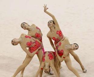 艺术体操集体全能中国队获银牌确保奖牌达100枚