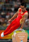 图文-奥运会男子鞍马决赛 肖钦动作非常潇洒