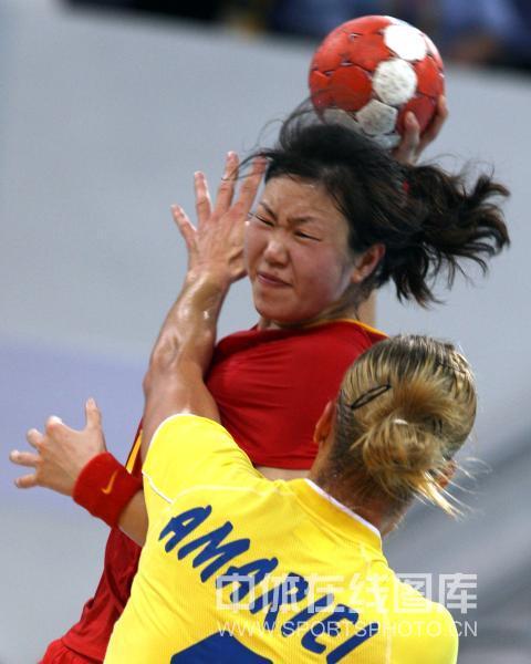 中国女子手球不敌罗马尼亚