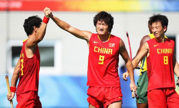 图文-中国男曲获奥运第11名 中国三将的豪情