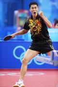 图文-男乒团体预赛中国胜澳大利亚 王励勤激动不已