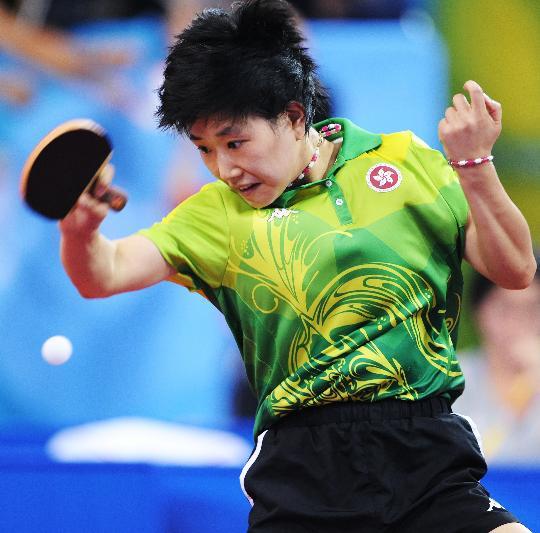 图文-乒乓球女单第二轮战况 中国香港选手柳絮飞