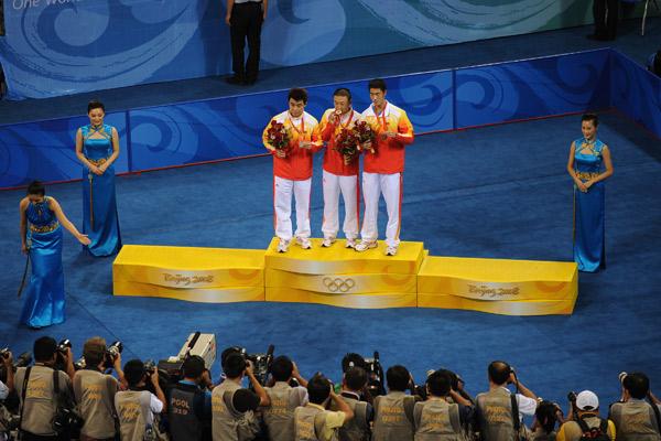 图文-[奥运]乒球男单决赛 中国独揽领奖台三席位
