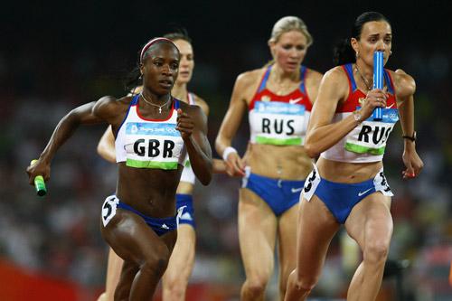 Photo: Russia wins Women's 4 x 100m Relay gold