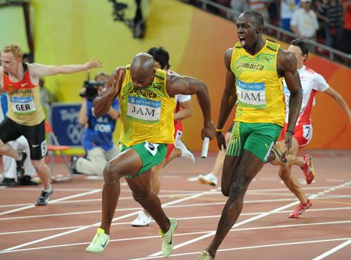 Photo: Jamaica wins 4 x 100m Relay gold