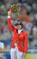 图文-[奥运]马术障碍赛个人 铜牌获得者庆祝