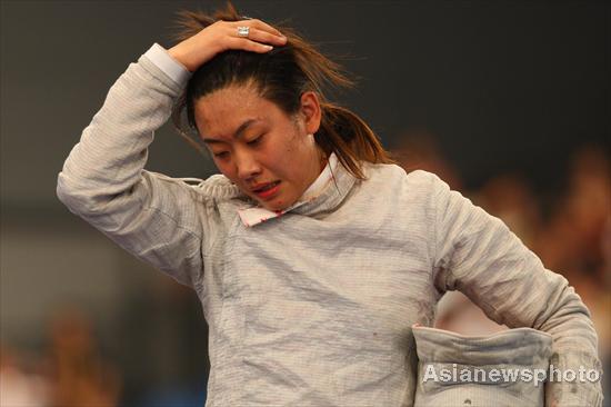 图文-[奥运]女子佩剑团体决赛 失望之情溢于言表