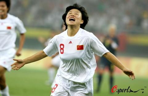 图文-[奥运会]中国女足VS瑞典 徐媛进球后狂喜