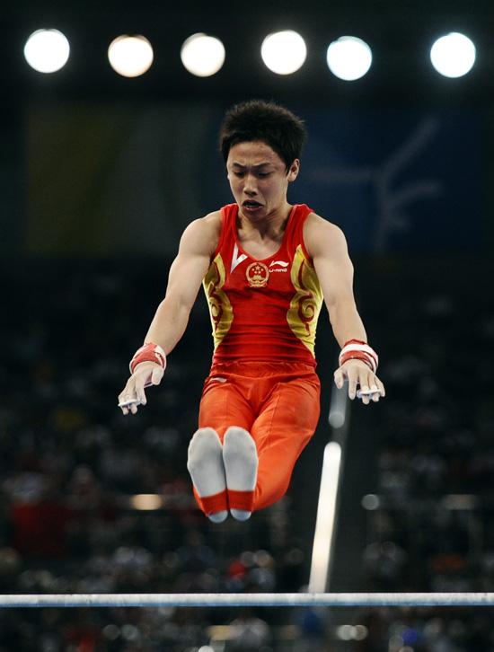 图文-[奥运]体操男子单杠 邹凯动作难度系数颇高