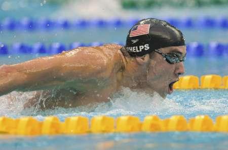 图文-菲尔普斯夺得200米蝶泳冠军 前进中的强者