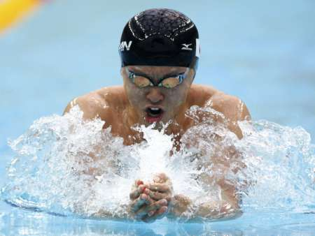 图文-[游泳]男子200米蛙泳决赛 看他的样子有多凶