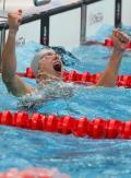 图文-男子50米自由泳决赛 胜利后的狂喜