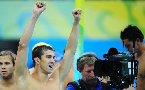 图文-男子4x100米混美国夺金 为我欢呼吧