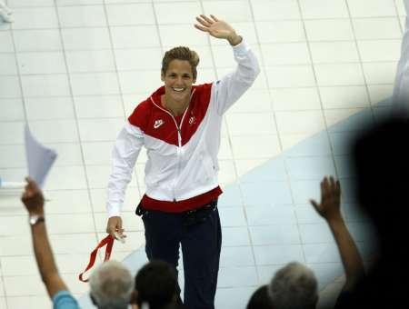 图文-斯特芬获50米自冠军 美国选手获得银牌