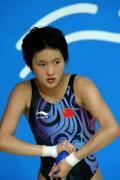 图文-女子单人十米跳台赛况 陈若琳赛后等待比分