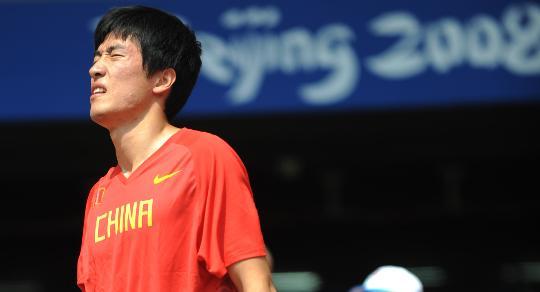 图文-刘翔参赛回顾 试跑之后感到不适