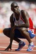 图文-奥运会男子400米预赛 法国选手赛后喘息