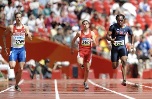 图文-奥运会男子200米预赛 俄罗斯选手实力不弱