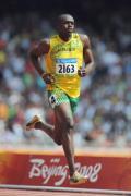 图文-奥运会男子200米预赛 博尔特轻松的步伐