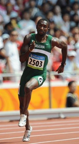 图文-奥运会男子200米预赛 尼日利亚选手的步伐