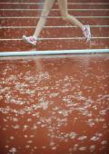 图文-女子20公里竞走雨中开赛 富有节奏的步伐