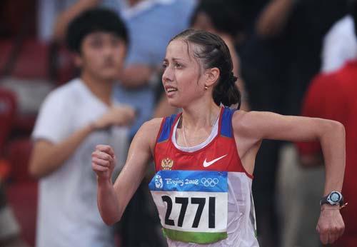 图文-女子20公里竞走决赛 坚持就是胜利