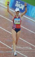 图文-女子20公里竞走决赛 挪威选手获得银牌