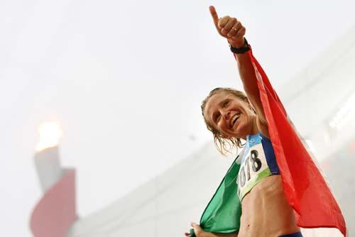 图文-女子20公里竞走决赛 我是最棒的