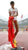 图文-女子跳远资格赛赛况 中国选手郑幸娟