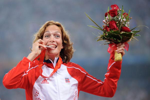 图文-[奥运]女子20公里竞走 挪威人普拉策夺得银牌