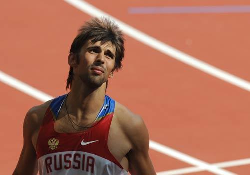 图文-奥运会男子十项全能 俄罗斯选手面露失望